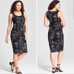 ISABEL MATERNITY Black White Pattern Tank Dress